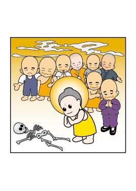 부모은중경0 부처님께서 예를 표하다